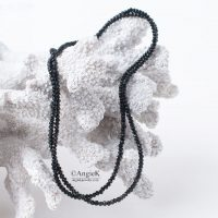 Modern handmade trendy  jewelry Black Spinel Sterling Silver Long Necklace perfect gift loved ones