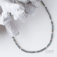 elegant with a modern touch hand-crafted Blue Fire Labradorite Sterling Silver Necklace bohemian look