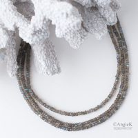chic equisite handcrafted jewelry Flashy Labradorite Multi Strand Sterling Silver Necklace fall/winter collection