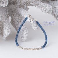 fall/ winter playful unique handcrafted Kyanite and Thai Beads Sterling Silver Charm Bracelet
