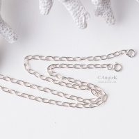 Long Sterling Silver Link Chain Necklace With Clasp View to pair with gorgeous handcrafted jewelry