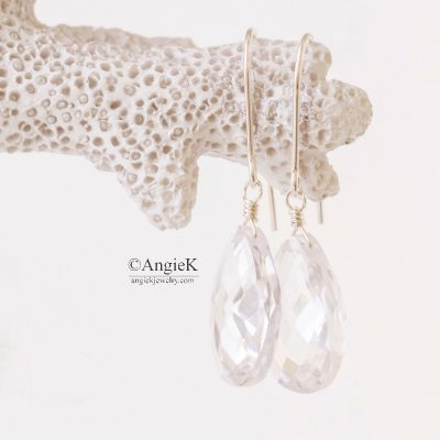 handcrafted earrings classic glamourous bridal sterling silver special gift loved ones