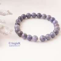 Trendy unisex handmade natural Tanzanite gemstone stretch bracelet high quality gift mother father day  jewellery