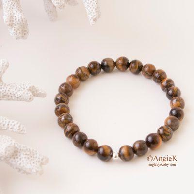 gemstone jewelry Tiger Eye Unisex Stretch Bracelet stylish everyday